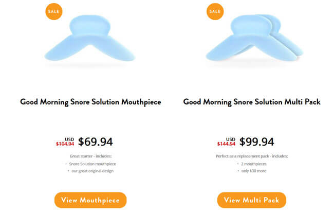 Good Morning Snore Solution prices