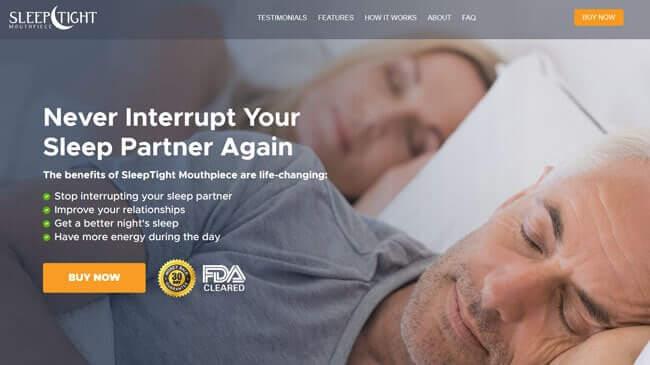 Homepage SleepTight Mouthpiece