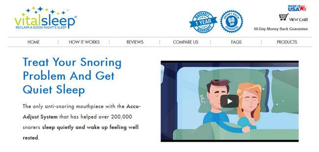 VitalSleep homepage