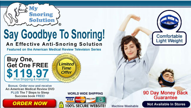 My Snoring Solution homepage