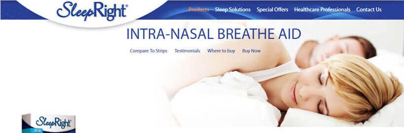 sleepright intra nasal breathe aid
