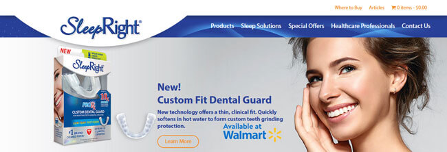 SleepRight Nasal Breathe Aid homepage