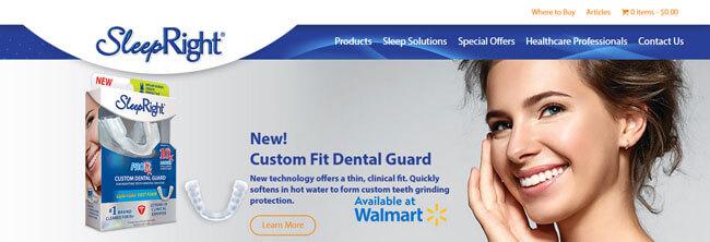 SleepRight Nasal Breathe Aid homepage