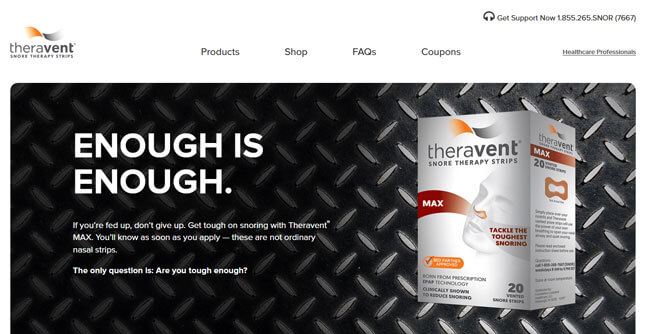 Theravent homepage