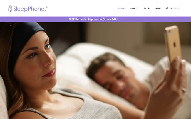 SleepPhones homepage