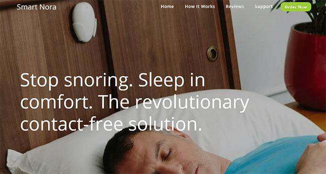 Smart Nora homepage