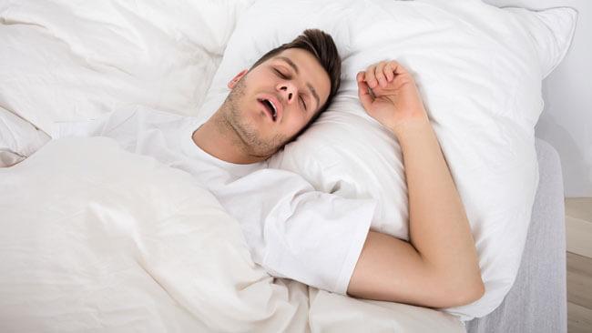 Young Man Snoring