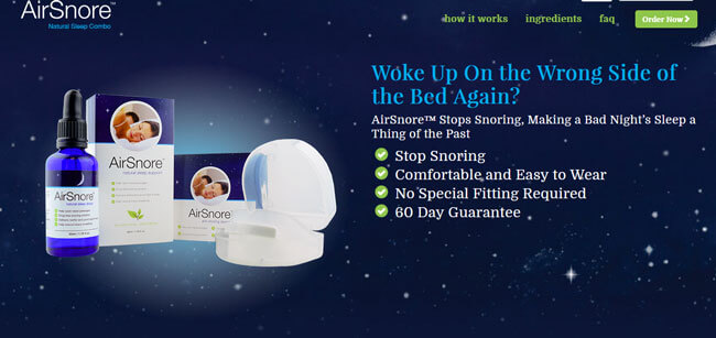 AirSnore homepage