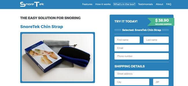 Homepage SnoreTek Chin Strap