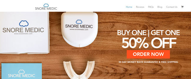 SnoreMedic homepage