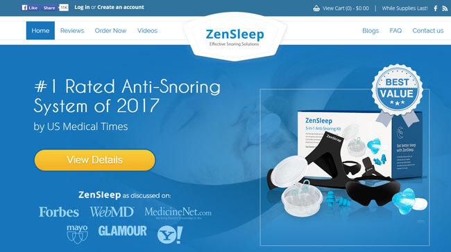 ZenSleep homepage