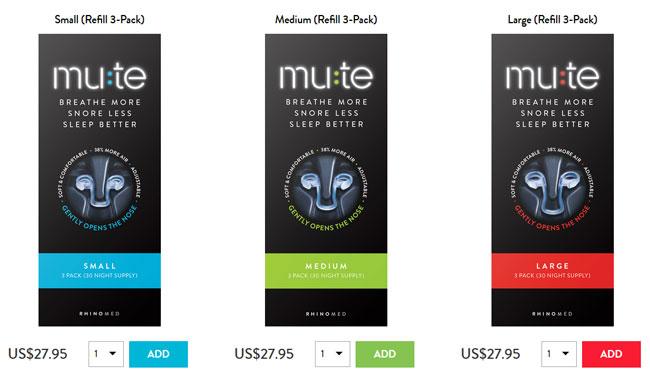 Mute Snoring-pricing